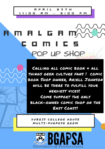 Amalgam Pop-Up Shop in DuBois Multi Purpose Rm